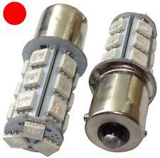 2x Ampoules 24V P21W R10W R5W 18LED SMD rouge pour camion semi-remorque portail