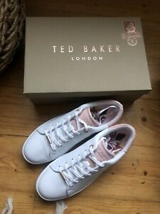 Ted Baker white leather trainers ZENIP uk 6
