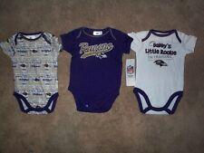 (3) Baltimore Ravens nfl INFANT BABY NEWBORN Jersey Shirt 0-3 M 0-3M 0-3 Months