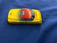 Vintage Yellow Cab Tin Taxi Friction Powered (doesn't work) Japan