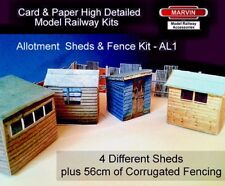 Model Railway Allotments Sheds & Fencing OO Gauge- Suits Hornby - Scenery