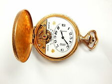 ANTIQUE SWISS HEBDOMAS HUGUENIN GRAND PRIX 8 DAYS ARNEX 15 JEWELS POCKET WATCH