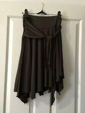 Dress Skirt brown Size 12 Uneven Hem