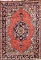 Decorative Vintage Geometric Ardakan Oriental Area Rug Wool Hand-Knotted 7'x10'