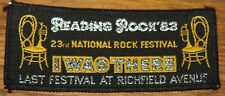 READING FESTIVAL 1983 LIZZY VINTAGE EMBROIDERED WOVEN COLTH SEWING SEW ON PATCH