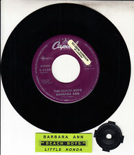 """BEACH BOYS  Barbara Ann & Little Honda 7"""" 45 rpm record + juke box title strip"""