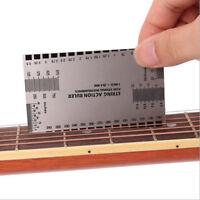 Acto de cuerda Gauge Reglas Guía Configuración Guitarra Bajo Eléctrico Medición