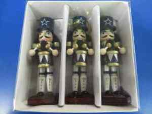 Dallas Cowboys NFL Pro Football Christmas Rare Gift Wooden Nutcracker Ornaments