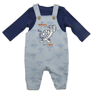Baby Boys Tigger Outfit Dungaree And Long Sleeve Top Set With Socks