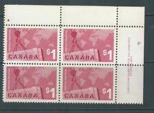 CANADA 411 Exports UR Plate Block MNH $90
