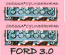 2 FORD RANGER TAURUS SABLE 3.0 OHV V6 CYLINDER HEADS 7mm 00-08  REBUILT