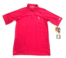Hook & Tackle Polo Fishing Short Sleeve Polo Shirt Sz Medium Red SPF 50 +