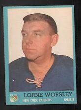 1962-63 TOPPS #45 LORNE GUMP WORSLEY NEW YORK RANGERS VINTAGE HOCKEY CARD NM/MT