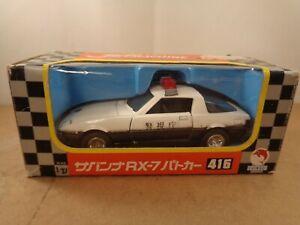 Shinsei Jet Machine no.416 Mazda RX-7 POLICE Car In White/Black.Diecast Boxed