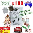 100 x Detox Foot Pad Patch KINOKI Herbal Weight loss toxin removal Regular