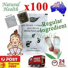 100 x Detox Foot Pad Patch KINOKI Herbal Weight loss toxin removal Regular