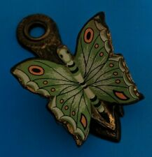 Vintage Allied  Brass painted Butterfly Paper Holder Spring Loaded clip 1970s