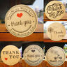 Wedding Decor Party Supplies Thank You Kraft Stickers Package Label Sealing Tag