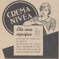 V0355 Crema NIVEA - Che cosa significa... - Pubblicità d'epoca - 1936 vintage ad