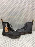 Dr. Martens COMBS II Black Leather/Canvas Lace Up Ankle Boots Men's 8  Women's 9