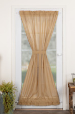 TOBACCO CLOTH Khaki French Door Panel Tan Farmhouse Rustic VHC Brands 72x40