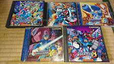 Sony Playstation 1 ps1 Megaman/ROCKMAN SET x3,x4,x5,x6,x8 CIB MINT,manuals,games