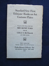 Mrs. Henry Ford Estate Auction Catalogue - First Editions, Sets, Costume Books