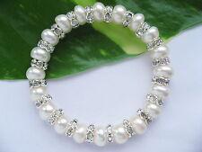 7-8mm AAA Auténtico Cultivada Perla De Agua Dulce Cristales Transparentes