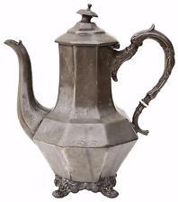 Antique early 20C century pewter tea pot