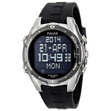 Pulsar PQ2003 Men's Black Digital Dial World Time Alarm Chrono Quartz Watch