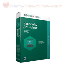 KASPERSKY ANTIVIRUS 2017 1 USER 1 YEAR IT KL1171TBAFS-SLIM FULL BOX 1 ANNO