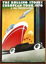 The Rolling Stones Vintage Original European Tour Concert Poster 1970