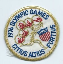 Olympic Games 1976 Citius Altius USA athlete patch 3 in dia #416