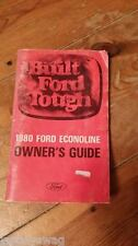 Built Ford Touch 1980 Ford Econoline Owner's GuideFPS 365-10880-B USA