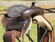 """TN Saddlery FQH 17"""" Western Lightweight Synthetic Saddle Brown"""