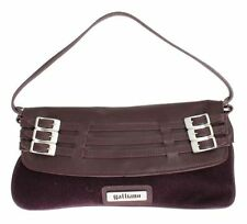 Magnetic Snap Leather Outer Baguette Handbags