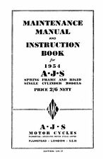 (0048) 1954 AJS Singles Maintenance manual
