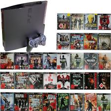 PS3 Slim 120 GB Konsole + 1 Original Controller 10 Spiele (+18)