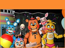 Five Nights at Freddy's FNAF Edible Birthday Cake Image Topper Frosting Icing