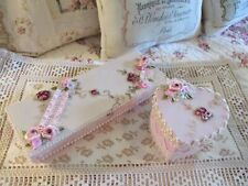 Shabby Chic Set of Two Decorated Boxes