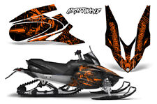 Yamaha APEX XTX Decal Wrap Graphic Kit Sled Snowmobile 2006-2011 NIGHTWOLF ORNG