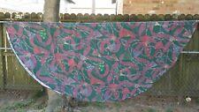 """Print Green Maroon Ribbon Tassel Oval 66""""X64"""" Tablecloth Free Shipping"""