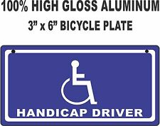 Novelty HANDICAP LICENSE PLATE / Bicycle License plate, custom, funny, tag