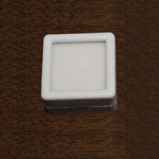 6 Pcs 30mm GLASS TOP SQUARE GEMSTONE DISPLAY / STORAGE WHITE INSERT BOX GEM POT