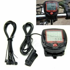 Bicycle Bike Cycling Computer LCD Odometer Speedometer Stopwatch Speed meter MU