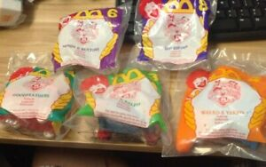 1994 McDonald's Happy Meal Toy Lot (5) Animaniacs 2,3,4,6,8 New Hip Hippos (JY)
