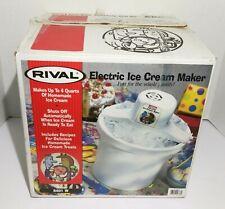 Rival Electric Ice Cream Maker Yogurt Sorbet #8401 4 Quart White