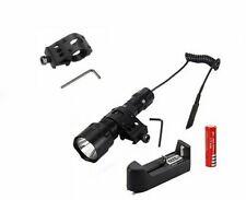 500 Lumen Tactical Flashlight Hunting Rifle Picatinny Weaver Mountain Lamp Torch