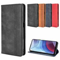 For Motorola MOTO G Power (2021) Magnetic Leather Wallet Card Flip Case Cover