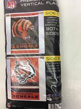 Cincinnati Bengals 2-sided 28x40 Banner Flag Cat Logo & Helmet Logo Free Ship